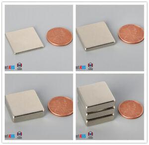 "Multiple Thickness 7/8"" 22mm width Rare Earth Neodymium Block Flat Square Magnet"