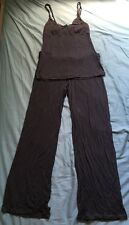 La Senza Pajamas Set 2 Pcs Gray Tank Top Pants Size Xsmall
