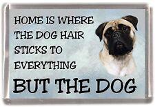 "Bullmastiff Dog Fridge Magnet ""Home is Where""  by Starprint"