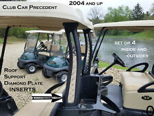 Club Car PRECEDENT Golf Cart Roof Support Aluminum Diamond Plate INSERTS