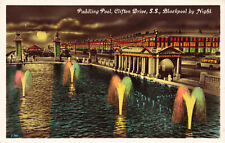 R206507 Paddling Pool. Clifton Drive. S. S. Blackpool by Night. RP. The Advance
