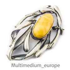 Art Deco Brosche Silber Bernstein Butterscotch silver brooch amber 🌺🌺🌺🌺🌺