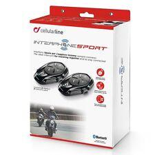 INTERPHONE Sport Twin Pack 2 Motorcycle Bluetooth Communication Intercom System