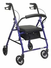 """Probasic 4 Four Wheel Rollator Walker w/ Padded Seat - Fits users 5'5"""" - 6'3"""""""