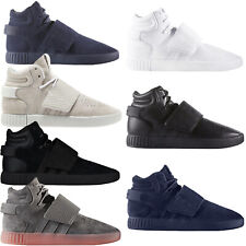 adidas Originals Mens Tubular Invader Strap Casual Lace Up Hi Top Trainers Shoes