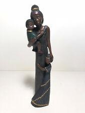 New ~ Alabastrite African American Mother and Children Figurine #28452
