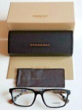 Brand New Burberry Men's Black Eyeglasses w/Iconic Burberry Print/Inner Temple!