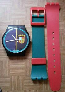 SWATCH+MAXI+MGB111 SIR SWATCH+WANDUHR/WALL CLOCK+1986+GOOD CONDITION