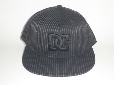 DC Shoes PIN ENVY Hat Black Pinstriped S/M ($32) NEW Flex Cap Skate Moto MX 210