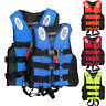 Adult Kid Ski Swimming Life Jacket Drift Buoyancy Aid Watersport Vest + Whistle
