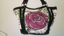 Womens Marc Ecko Red handbag large rose shoulder bag