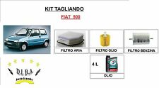 KIT TAGLIANDO FILTRI + OLIO TOTAL 10W40  FIAT 500 (900IE DAL 1995 AL 1998) 30KW