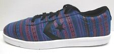 Converse Size 10 Blue Leather Sneakers New Mens Shoes