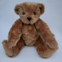 AUTHENTIC Vermont Teddy Bear co. Jointed Plush Brown  Bear 🐻 Handmade 17""