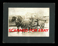 SAN FRANCISCO, CA HORSE DRAWN CART 1909 antique cabinet photograph California