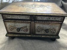 Vintage Music Jewelry Box Gold Florentine Gilt Musical plays Fly Me to the Moon