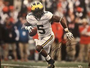 Jabrill Peppers Autograph 16x20 Signed Photo w/ COA University Of Michigan Footb