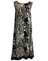 TAILORED Reversible Bohemian Slip Dress Black/White Monochrome Boho Chic UK 16 L