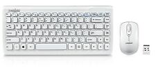 Perixx PERIDUO-707W PLUS US, Wireless Mini Keyboard and Mouse Combo -Piano White
