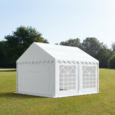 Marquee 4x6m white solid PVC 500g/m² party tent waterproof easy to assemble