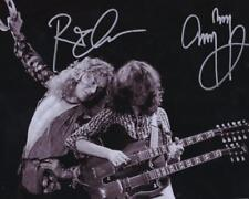 REPRINT - LED ZEPPELIN Robert Plant Jimmy Page Signed  8 x 10 Glossy Photo RP