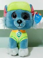 TY Beanie Baby Paw Patrol Rocky Plush Toy Dog Nickelodeon 15cm Tall!