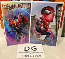SPIDER-GEDDON #0 SET CLAYTON CRAIN NYCC VIRGIN VARIANT & RAINBOW VARIANT VF/NM