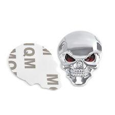 Auto Car Decor Metal Skull Bone Emblem Badge Decal Sticker Motorcycle Orament 3D