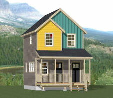 16x20 Duplex -- 574 sq ft -- PDF Floor Plan -- Model 14A