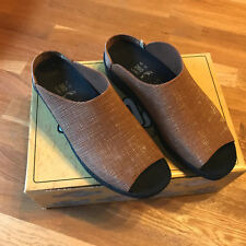 TATAMI b BIRKENSTOCK Clog Pantolette ModellSANTEE Linen Gold /Hellbraun Größe 40