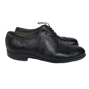 Classics By Footjoy Oxfords Mens 10.5  Black Leather   Dress Shoes USA Lace Up