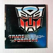 Transformers Catalog Insert 1985 G1 Free Shipping