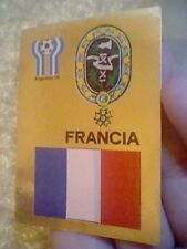 FRANCE FRANCIA  SPANISH FOOTBALL CARD 1978 UNSTICKED GOLD EDITION