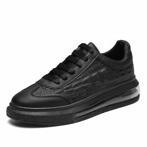 Mens Sneakers Fashion Air Cushion Shoes Athletic Black Lace Up Walking Causal