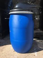 60L Litre Open Top Plastic Drum, Water Container, Barrel Keg With Lid & Lockring