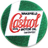 Patch Iron on Castrol Wakefield Motor Oil Racing T shirt Suit Sign Advertising