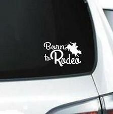 B170 Born To Rodeo Bull Riding vinyl decal for car truck