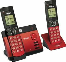 VTech CS5129-26 - 2 Handset Cordless Phone with Digital Answering System - Red