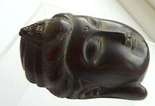 Antique Carved Hardwood Bodhisattva  of Infinite compassion Toggle signed
