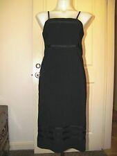 NWOT Silhouette little black dress adjustable straps ribbon design  Size 10