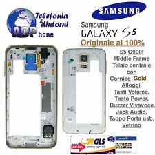 Middle Frame Telaio Cornice Centrale Samsung Galaxy S5 G900f Gold Oro Originale