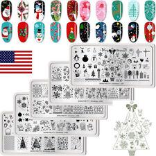 5Pcs Christmas Nail Stamping Plates Kit  Nail Art Templates BORN PRETTY