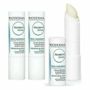 3 X Bioderma Atoderm Lips Moisturising Stick(4g), Bioderma Lip Balm, AuStock