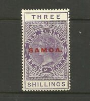 New Zealand Samoa Victoria 3 Shillings LMM Mint Great Condition Old Collection