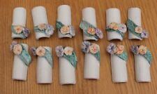 12 porte couteau a decor de fleurs en céramique l atelier d evelyne
