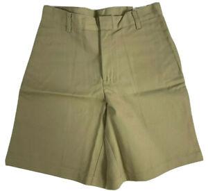 K12 Gear Boys School Uniform Shorts NWT 6446MN Khaki/Navy/Gray Var. Sizes UNI08