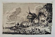 FRANZ EDMUND WEIROTTER 1733-1771) Original SIGNED 19th Century ETCHING Europe