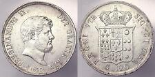 Piastra da 120 Grana 1855 Regno delle Due Sicilie Ferdinando II Silver #9467