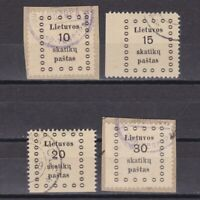 LITHUANIA 1919, Mi #9-12, CV €20, Used