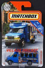 2018 Matchbox #18 GMC® School Bus BLUE / MICHAEL'S HOLLYWOOD TOURS / MOC